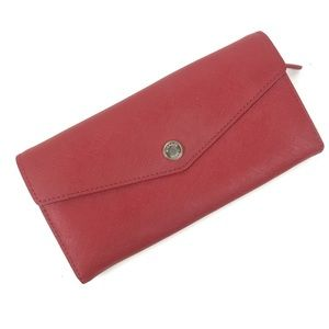 Michael Kors red Saffiano leather wallet